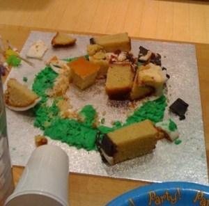 cake debris