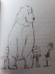 Image taken from Mr Gum and the Dancing Bear by Andy Stanton, illustrated by David Tazzyman.